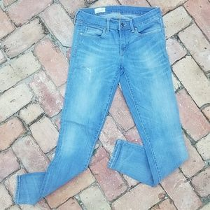 GAP 1969 legging jeans light blue mid rise 27